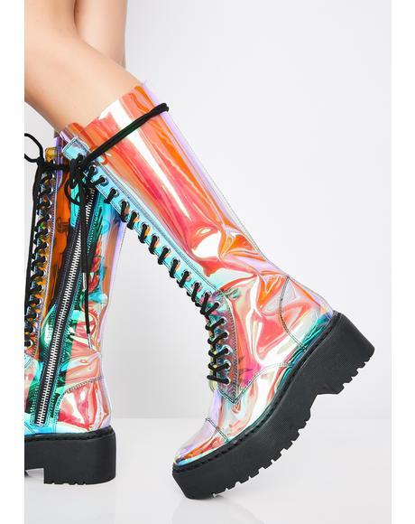 Cosmic Renegade Combat Boots