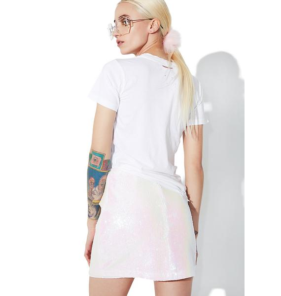 Motel Ringgo Pearl Diaz Mini Skirt