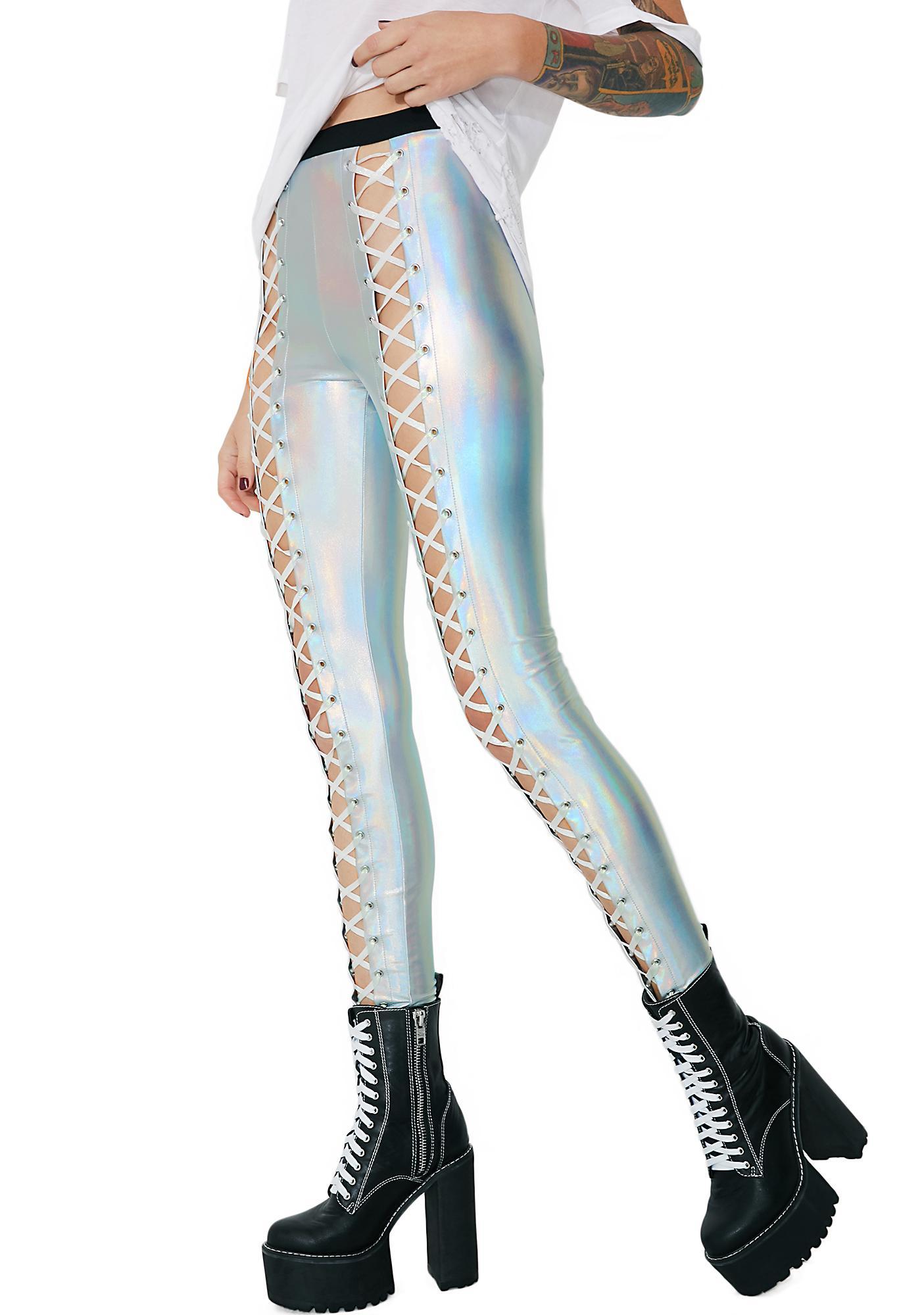 ca3d9ce7f2 ... Club Exx Holographic Nancy Corset Leggings ...