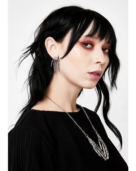 Baddie Bonez Necklace N' Earrings Set