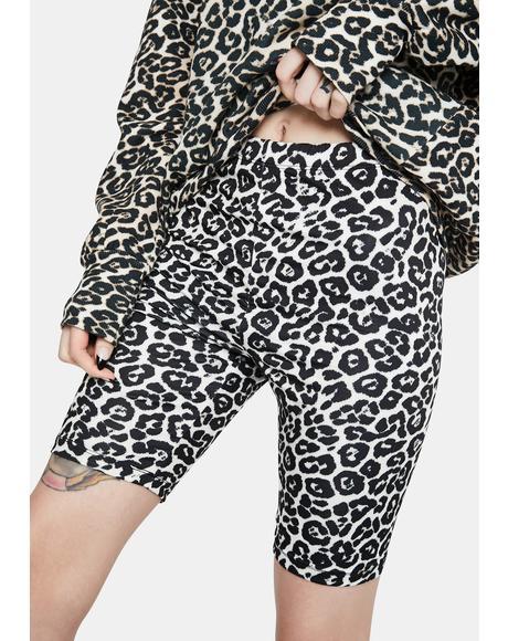 Khloe Leopard Print Biker Shorts