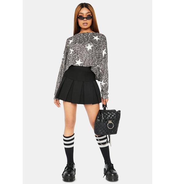Brightest Shining Star Print Sweater