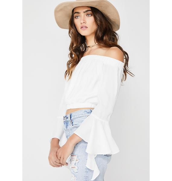 Tiger Mist Field Day Off The Shoulder Crop Top
