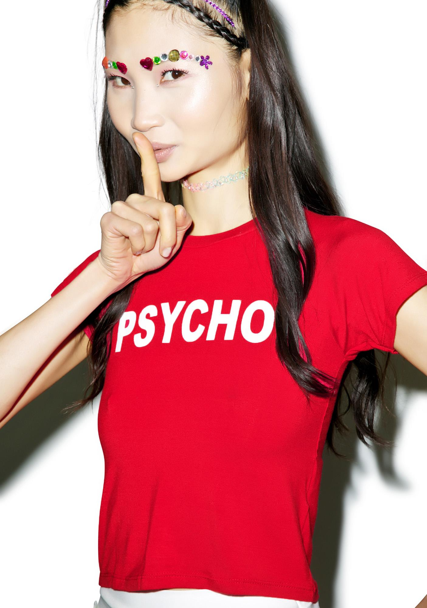 O Mighty Psycho Cropped Tee