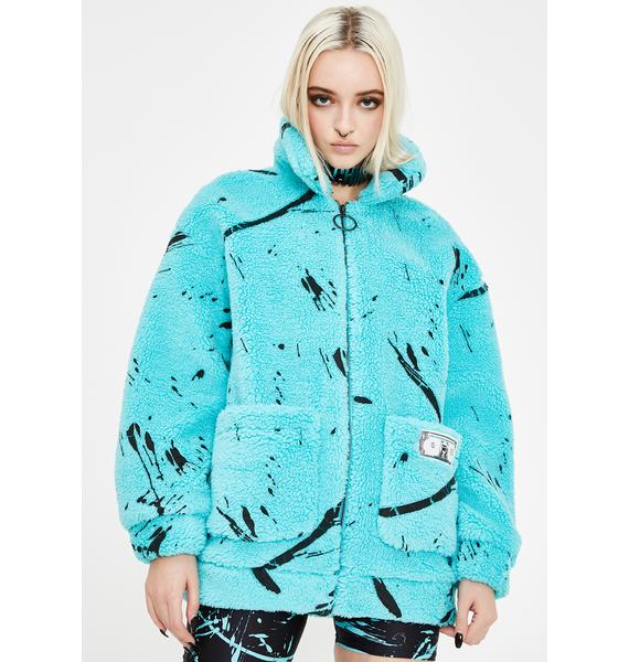 GoGuy Scribble Fluffy Bomber Jacket
