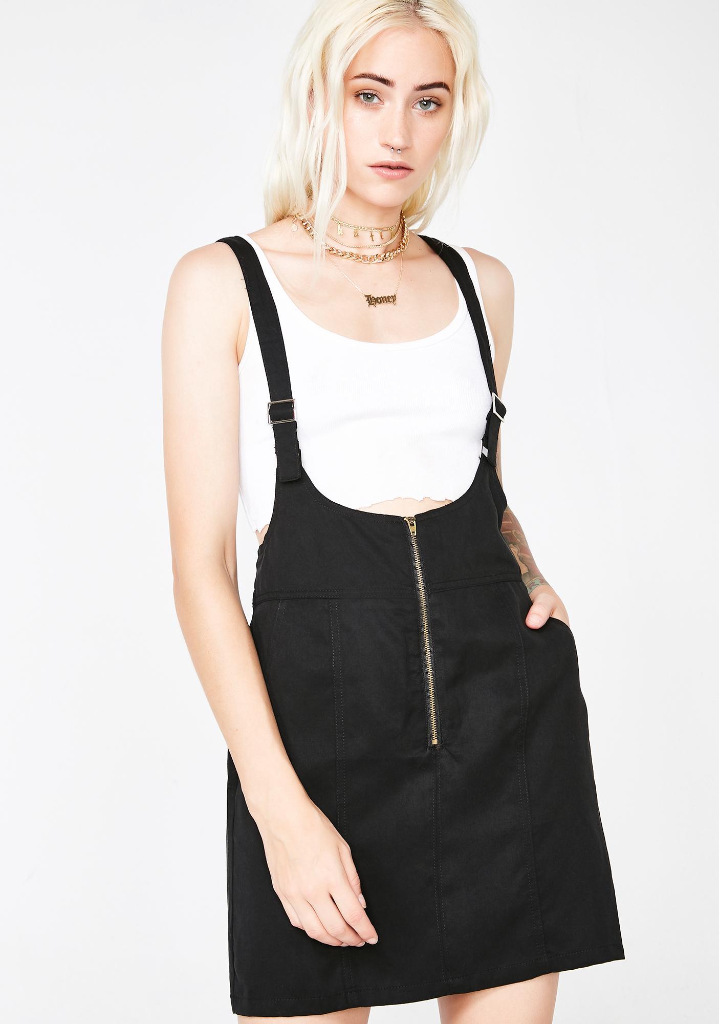4aa4e13f3228 Black Suspender Mini Dress   Dolls Kill