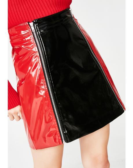 Zip Panel Skirt