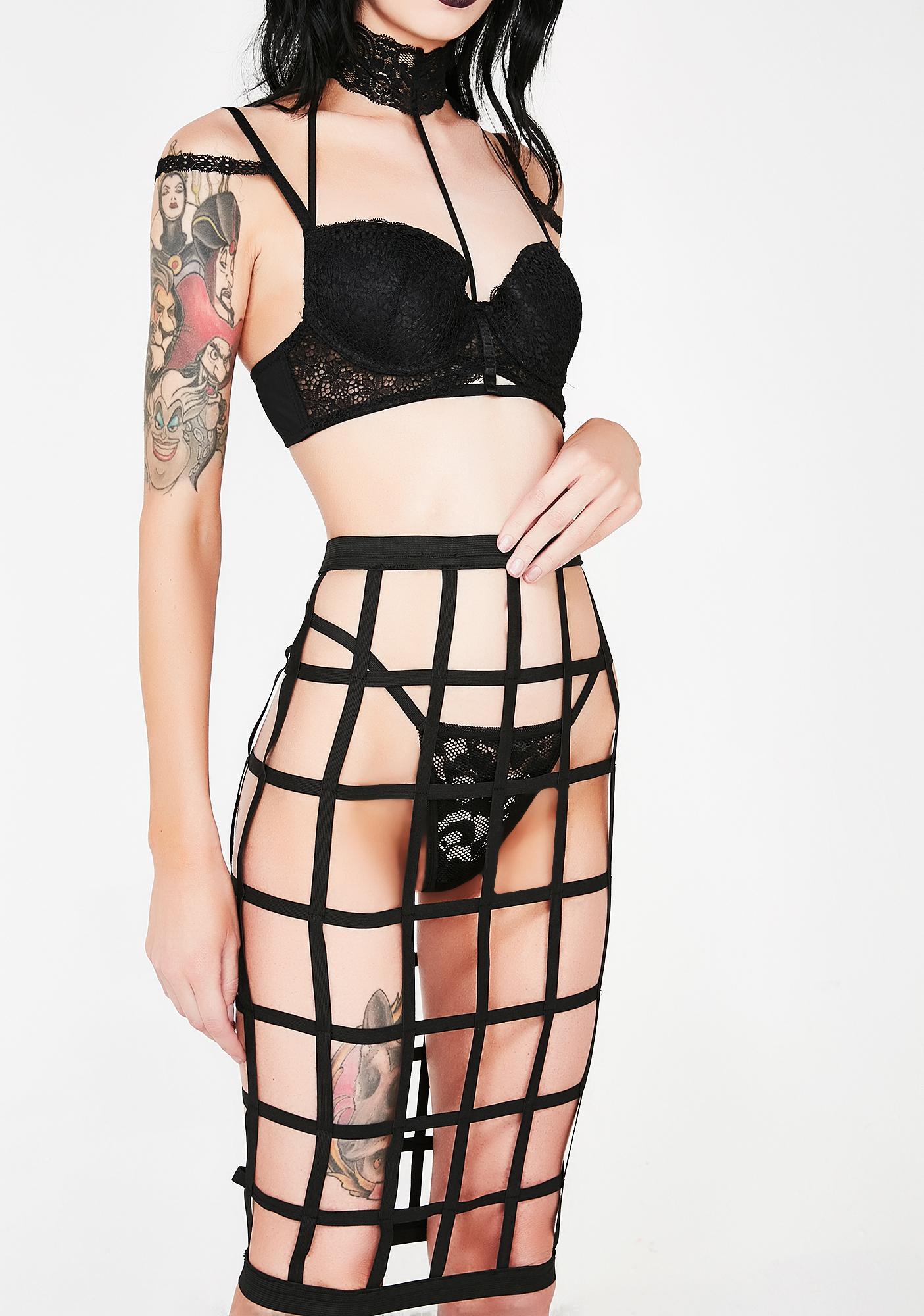 Impending Doom Cage Skirt Set