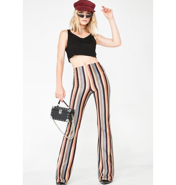 Down The Line Striped Pants