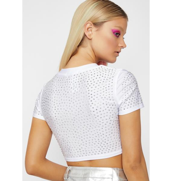 Frosted Bossy Bliss Rhinestone Top