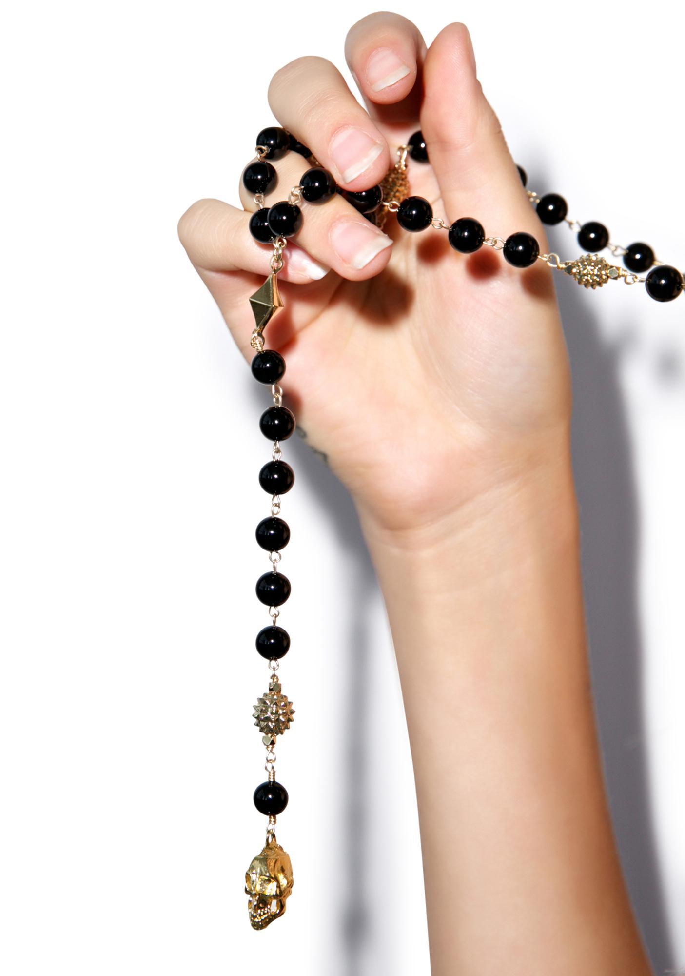 Ettika Moda Skull Charm Necklace