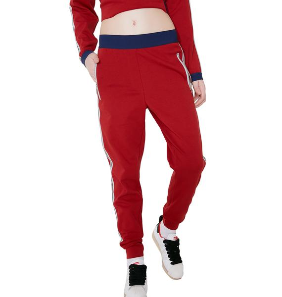 OKAYLA Crimson High Waist Jogger