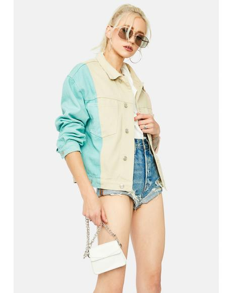 Creative Energy Colorblock Denim Jacket