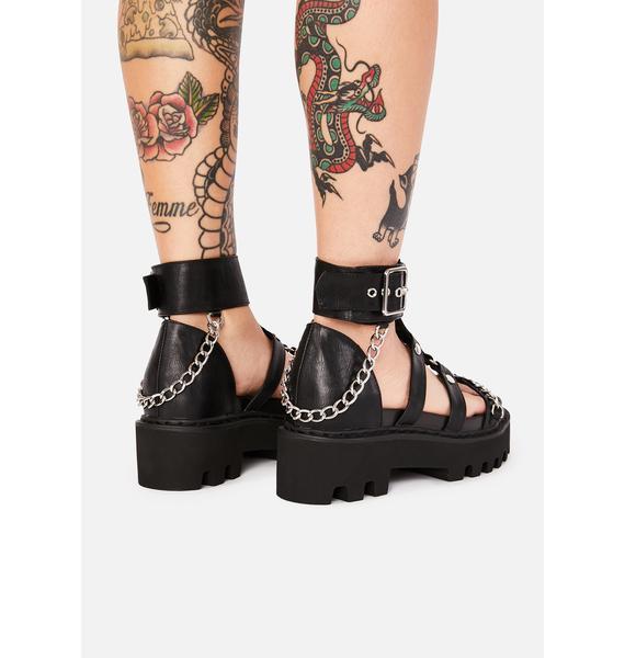 Current Mood Risk Taker Platform Sandals