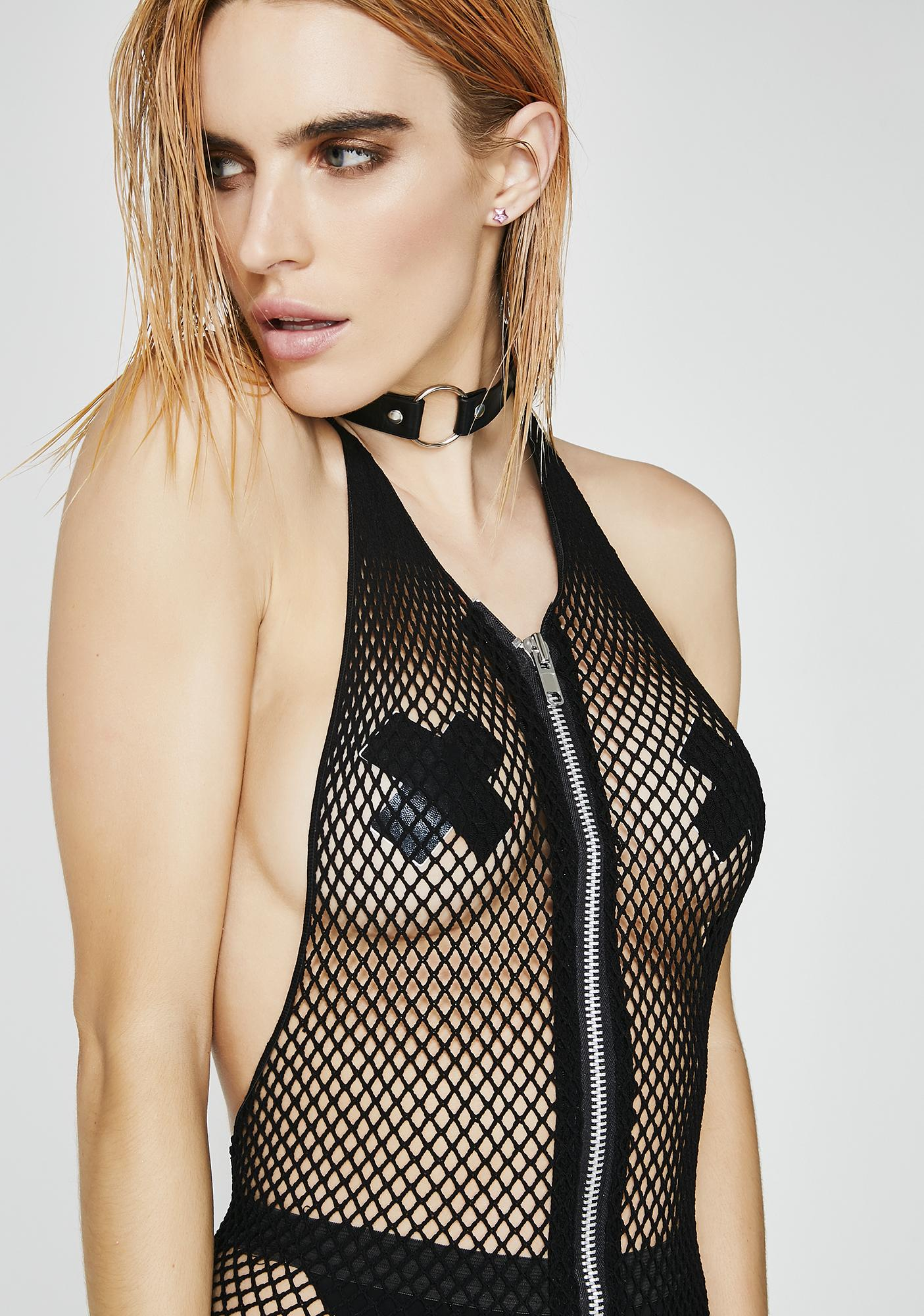 Worth The Risk Fishnet Bodysuit