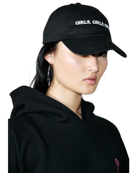 Girls Girls Girls Dad Hat