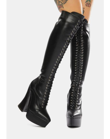 Curv Him Platform Knee High Boots