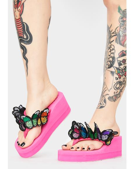 Sweet Friends 4 Life Platform Sandals