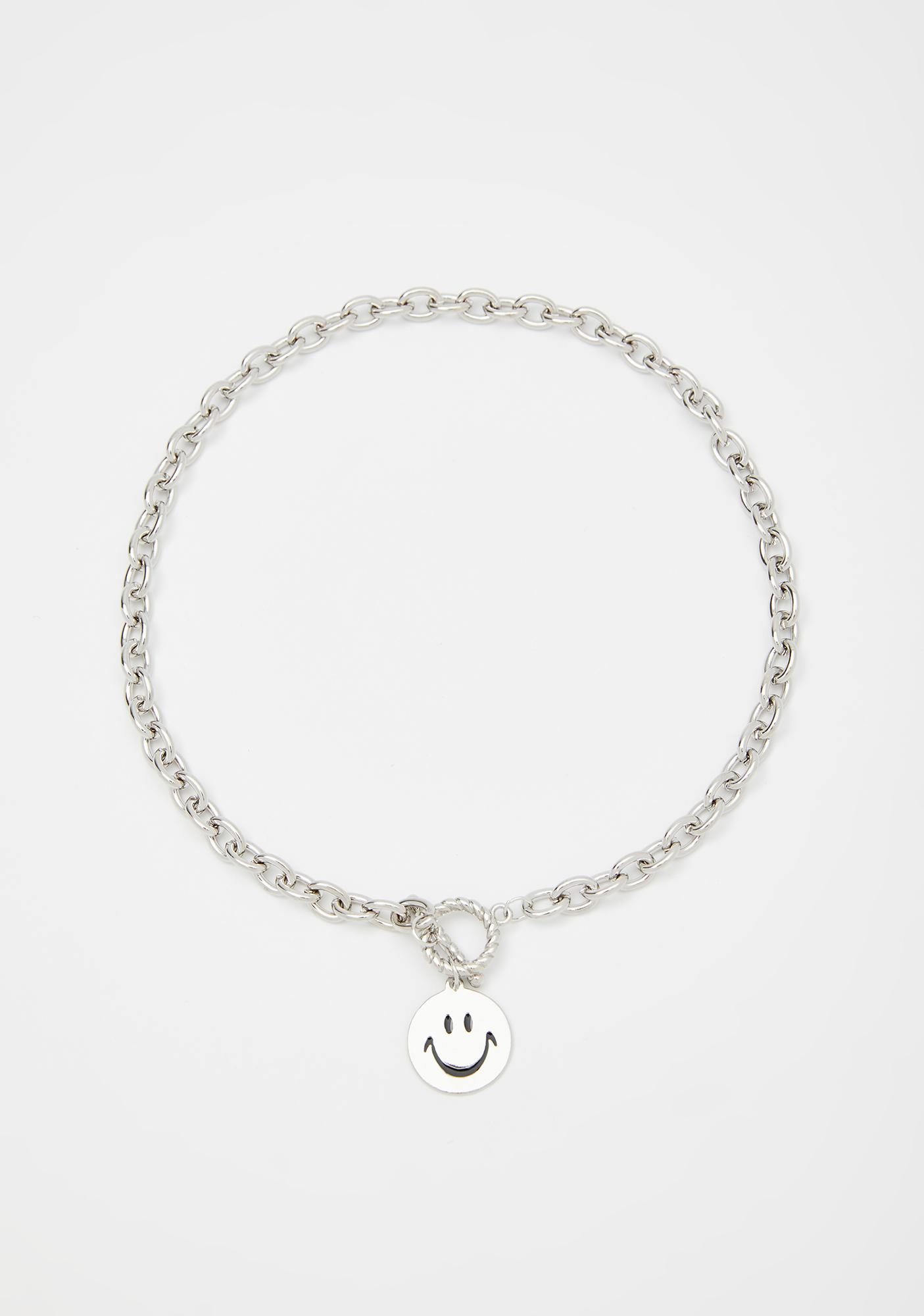 Fake Smile Chain Necklace