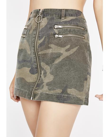 Army Of Love Camo Skirt