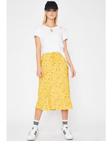 Honey Petal Pickin' Midi Skirt