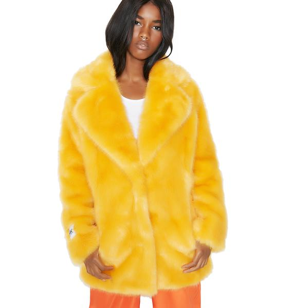 Jakke Heather Fuzzy Faux Fur Coat