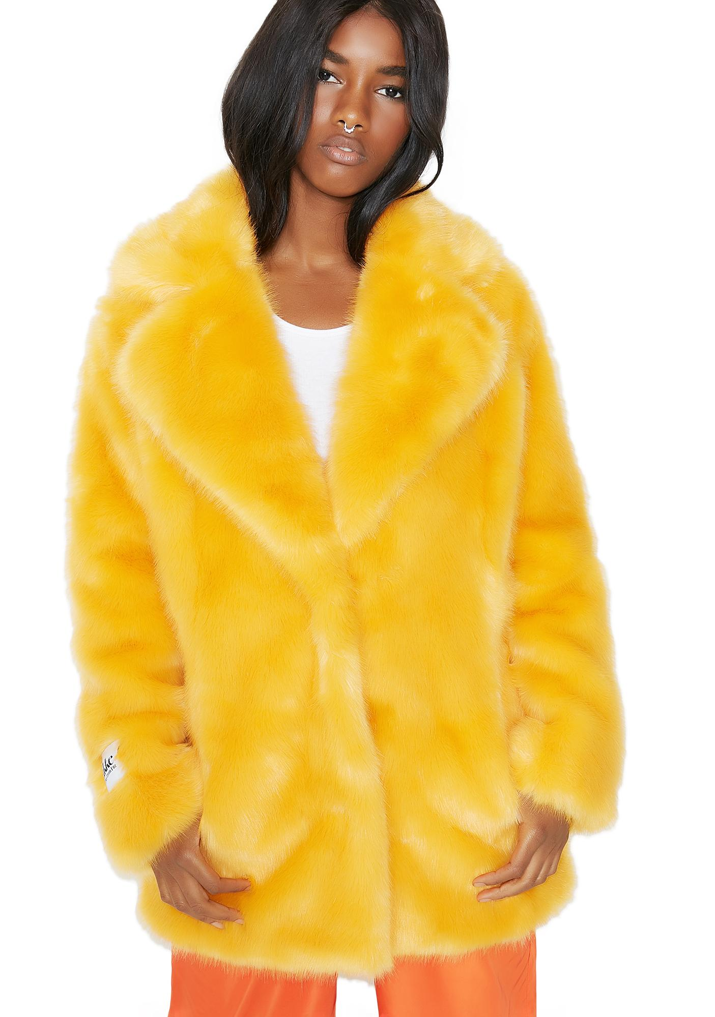 31d90a742cc4 Jakke Heather Fuzzy Faux Fur Coat | Dolls Kill