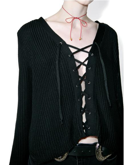Adrenaline Lace-Up Top