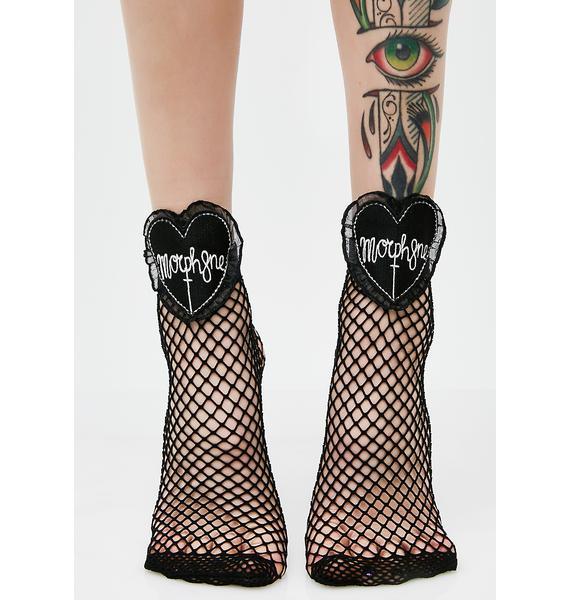 Morph8ne Fishnet Mid-Calf Socks