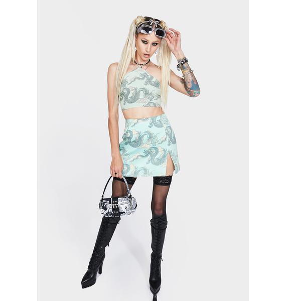 Motel Dragon Pelmet Mini Skirt