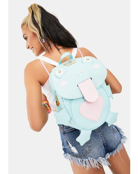 Mid Size PVC Frog Kitsch Backpack