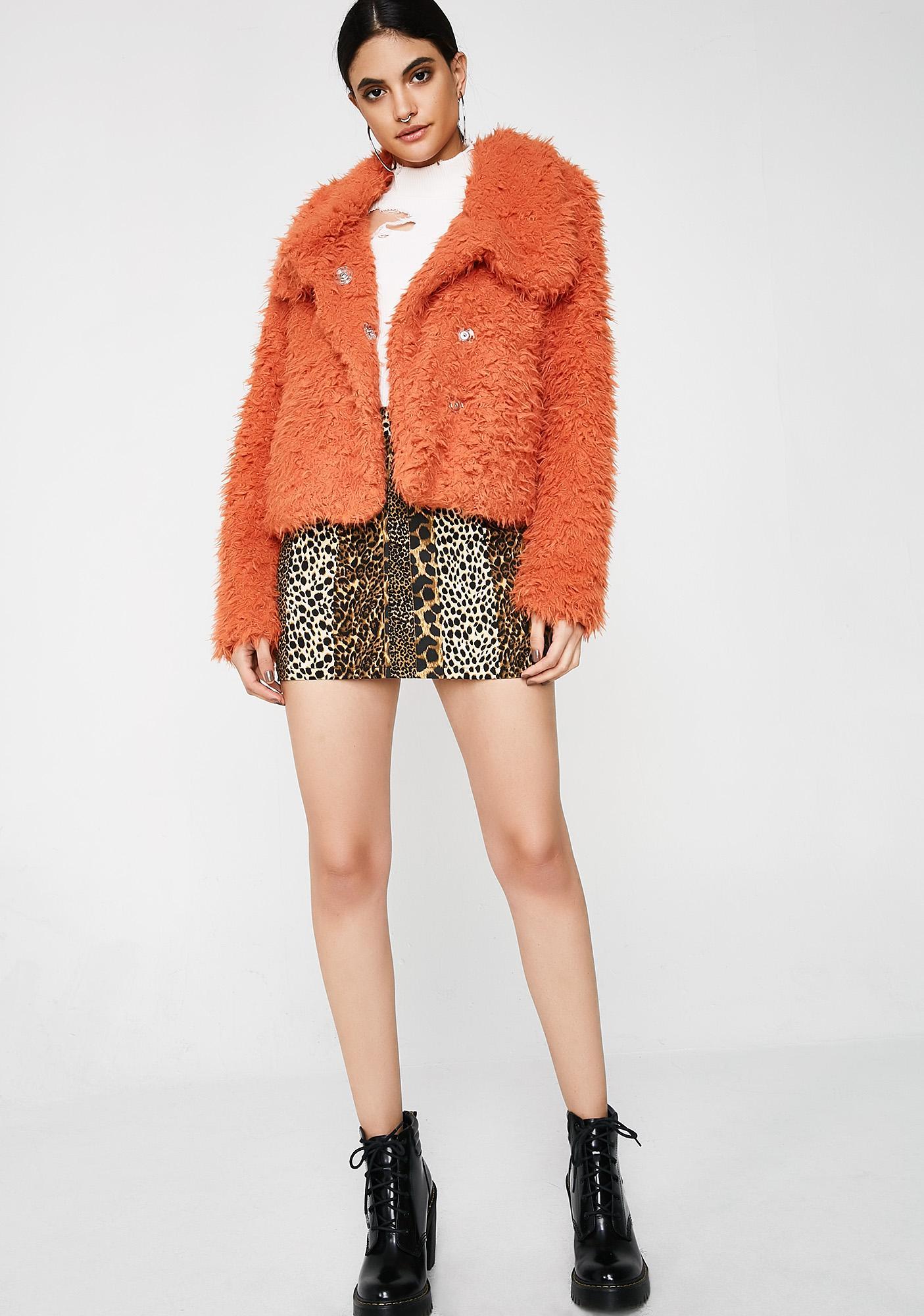 Funky Bright Eyes Fuzzy Jacket