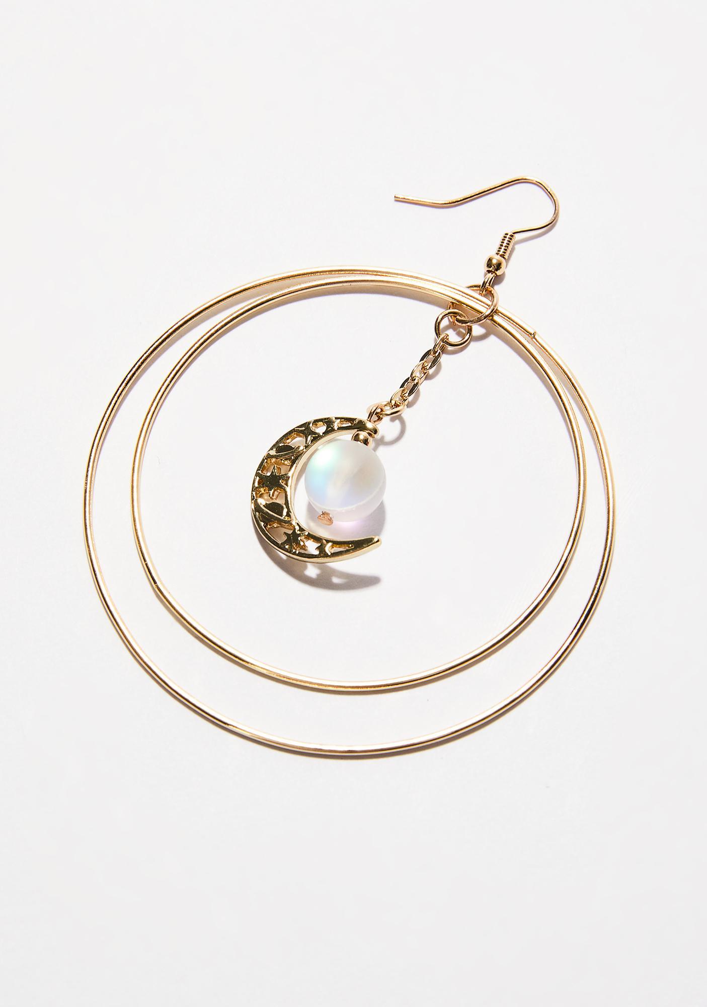Moon Rising Hoop Earrings