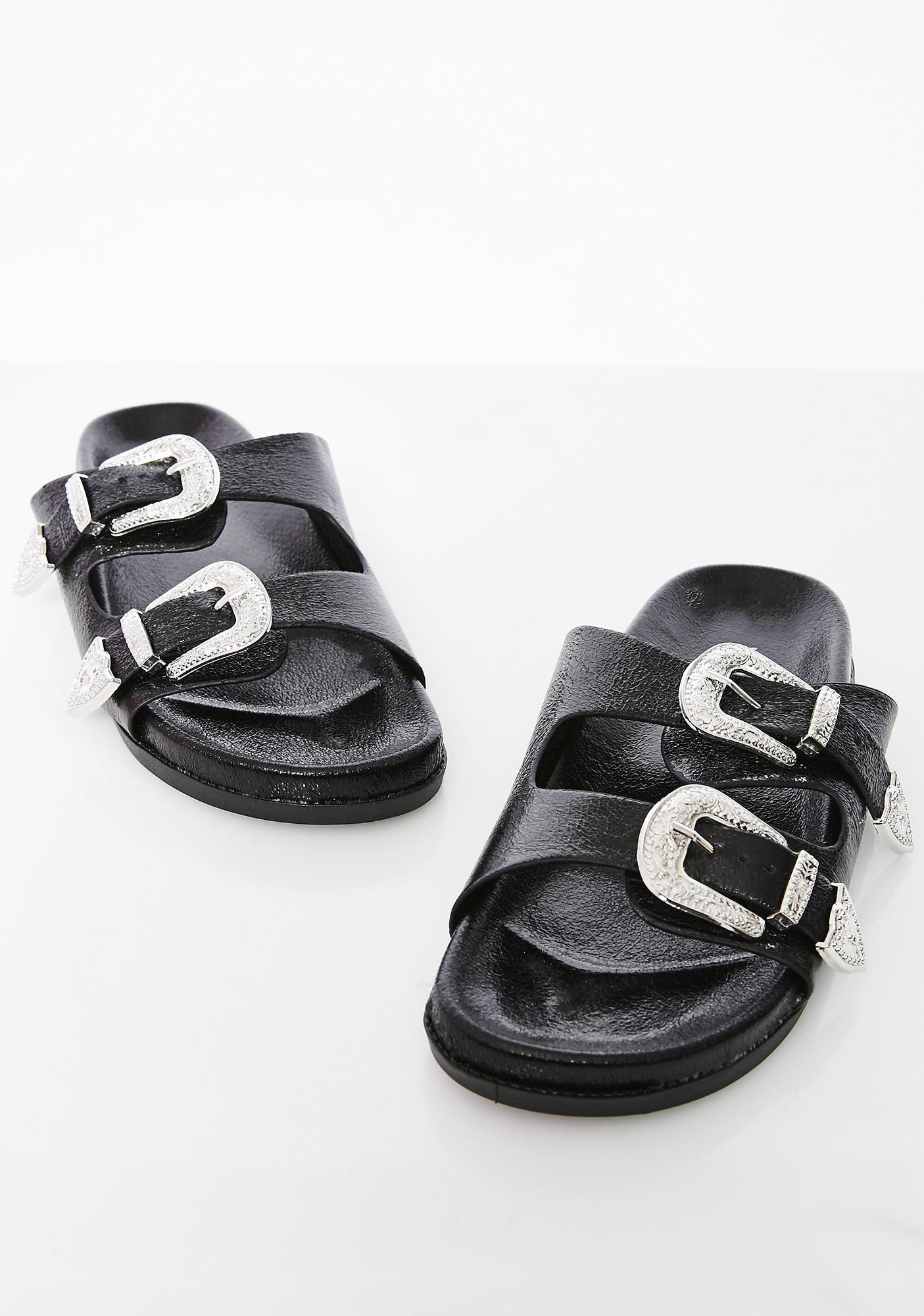 On The Move Buckle Sandals