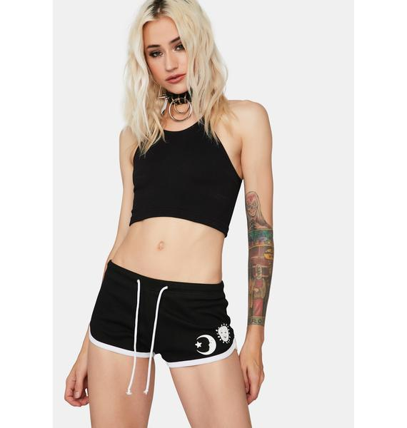 Too Fast Witch Bitch Graphic Shorts