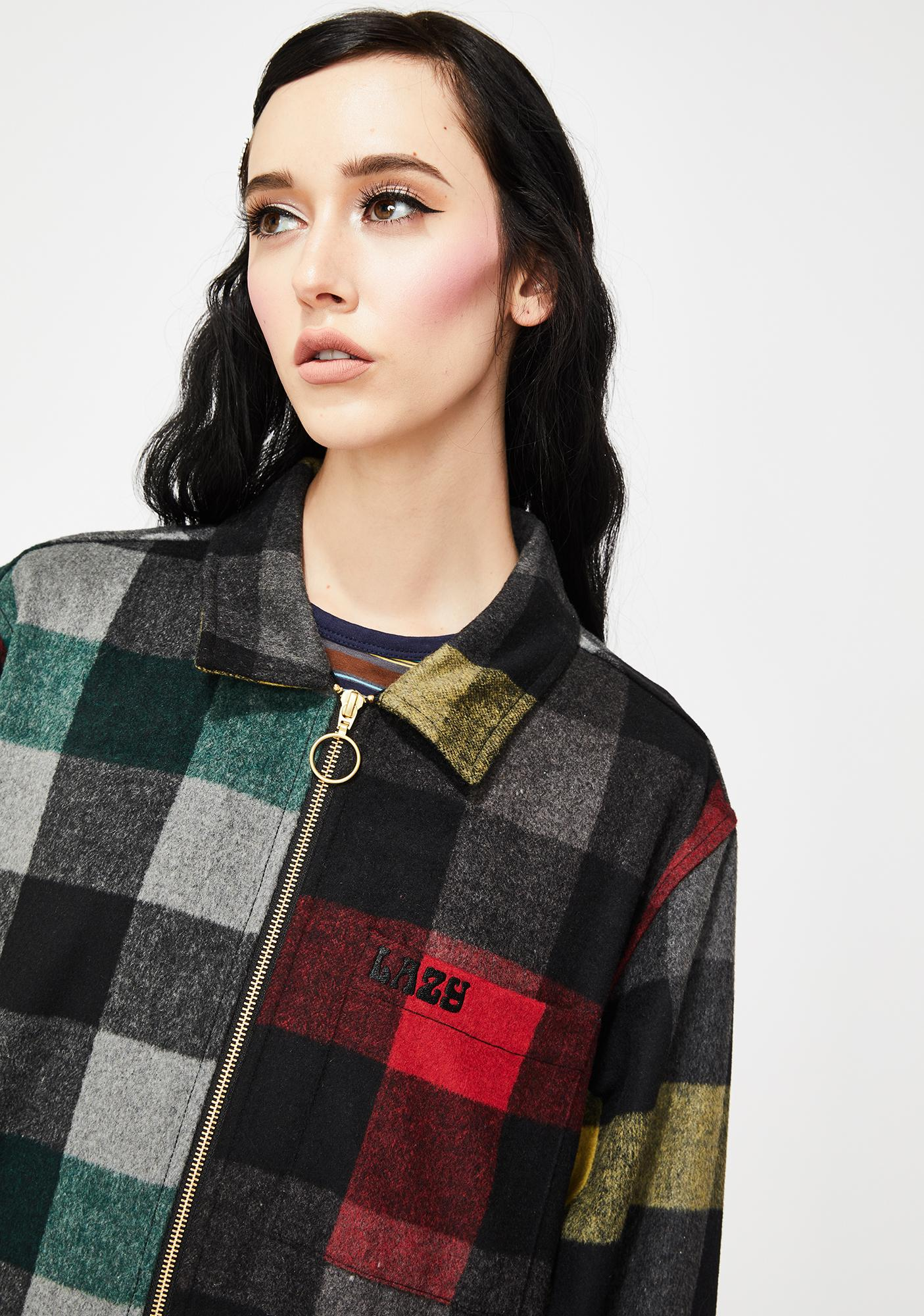 Lazy Oaf Home Grown Check Shacket