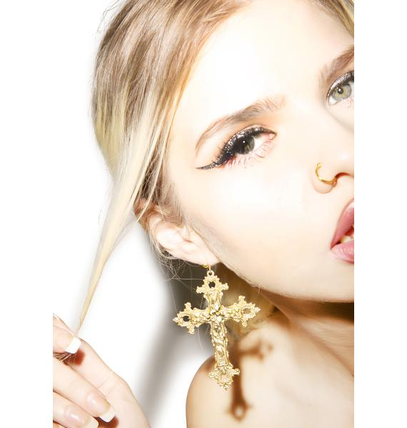 Rock n Rose Gabriella Cross Earrings