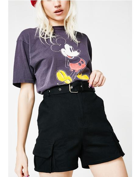 Cross Paths Belted Shorts