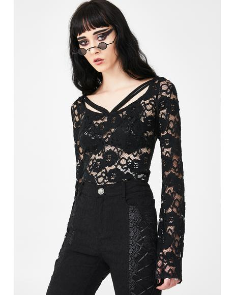Heartsease Lace Top