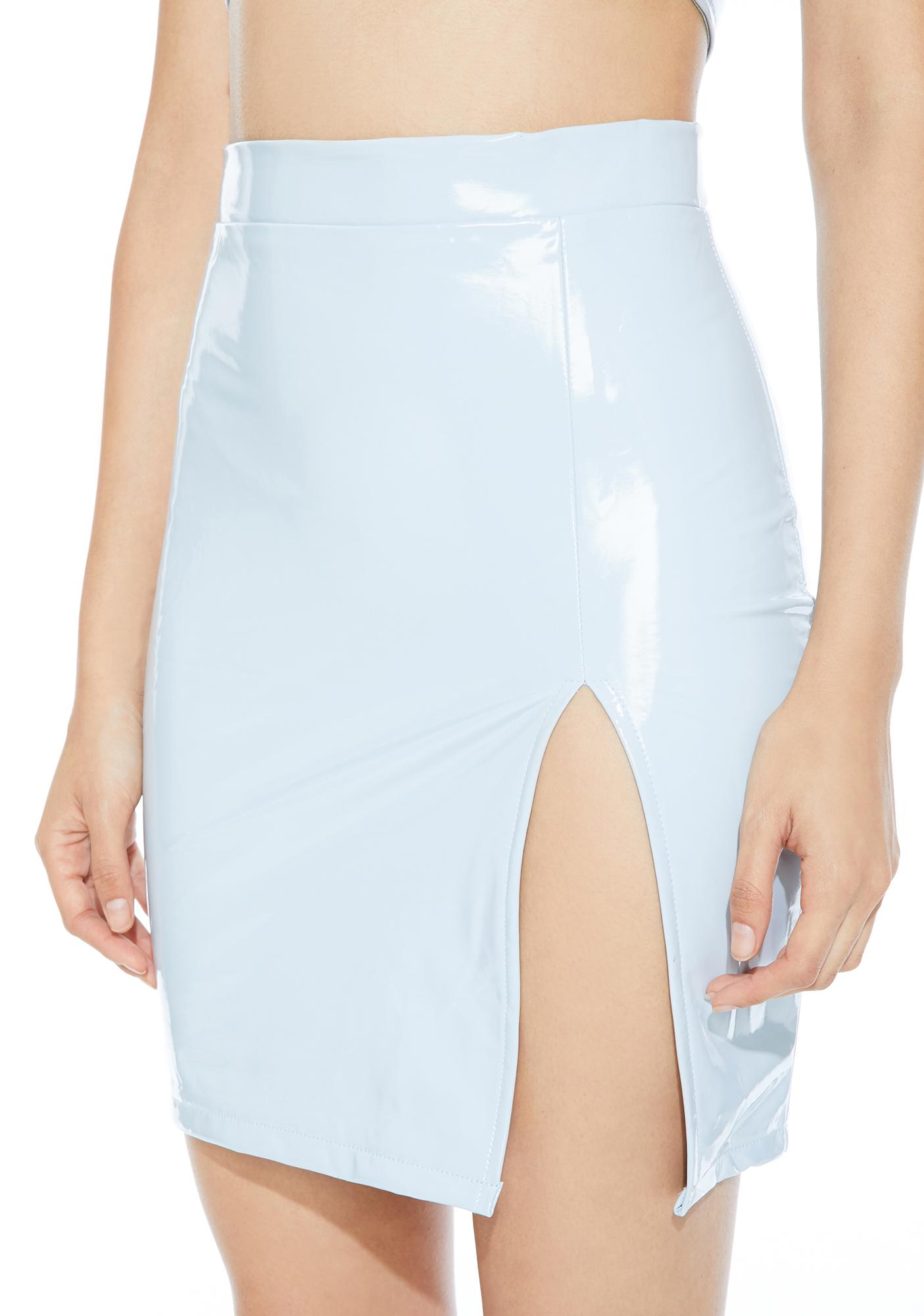 Love Hotel Vinyl Mini Skirt