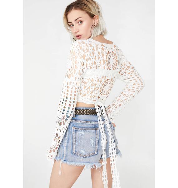 Temporary Lova Crochet Top