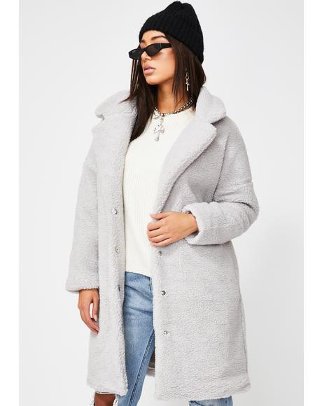 Light Grey Teddy Coat