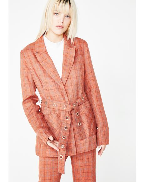 Dirty Business Plaid Blazer