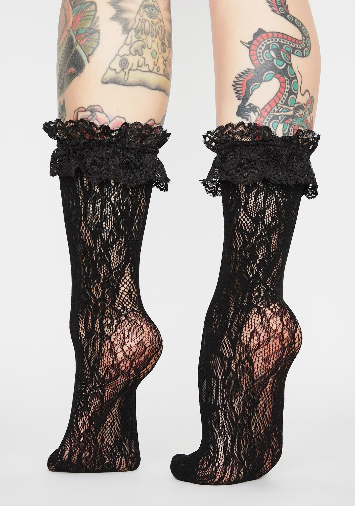 Dark Grave Delusion Ruffle Socks