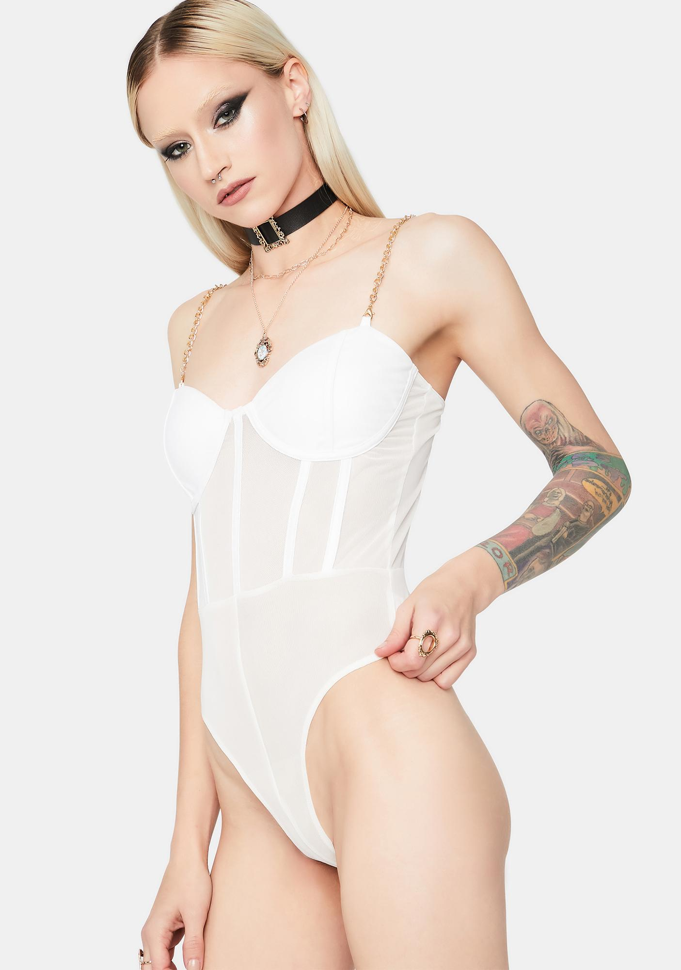 Pure Love Like Ours Chain Strap Bodysuit
