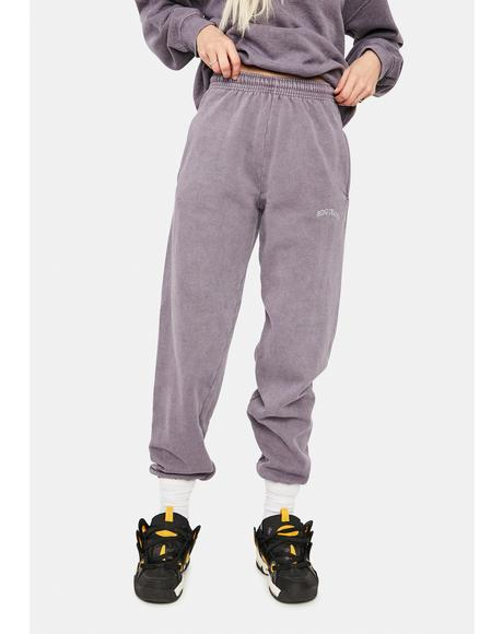 Lilac Jogger Sweatpants