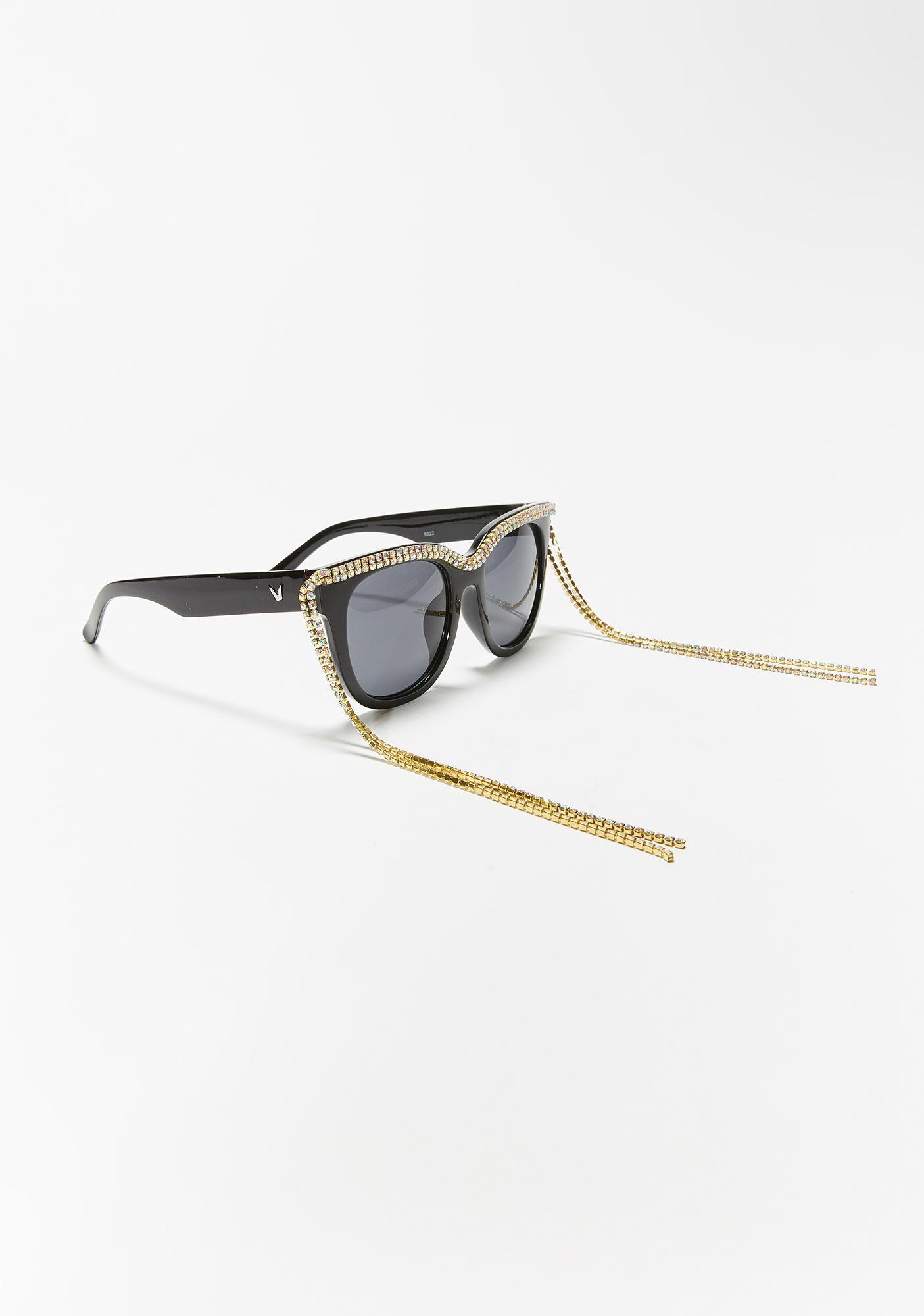 Slide Thru Rhinestone Sunglasses