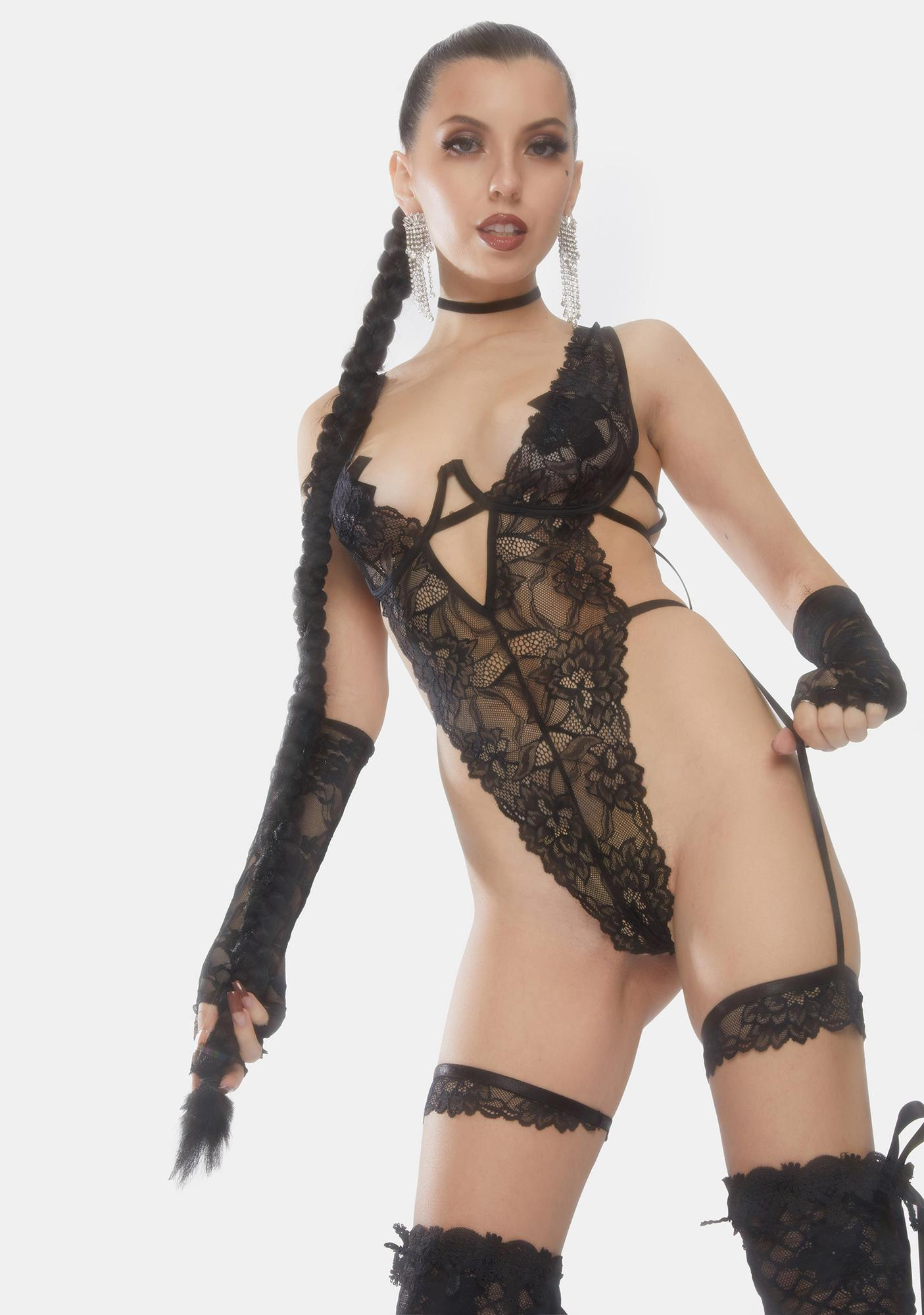 Oh la la Cheri Annalise Garter Lace Teddy
