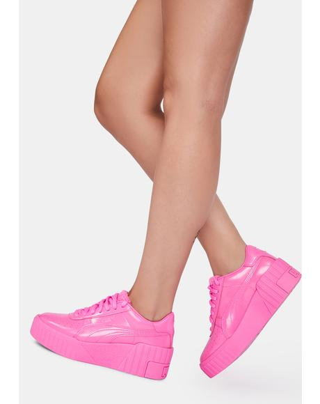 Pink Cali Wedge Platform Sneakers