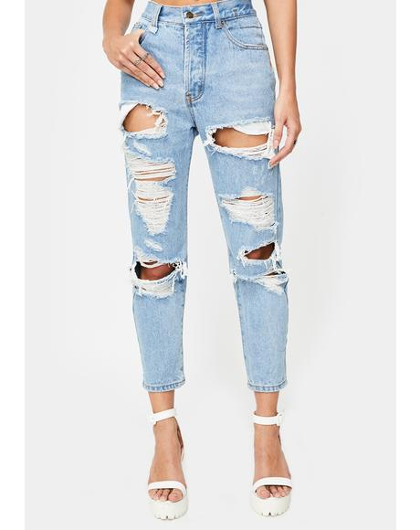 The New Rules Distressed Jeans